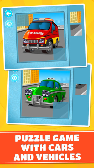 Cars and Vehicles Puzzle - Educational logic games with transport & emergency vehicles, sports & race cars for toddlers, preschool kids and little boys - Free hyundai vehicles and prices