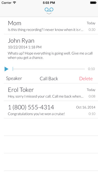 Truly Voicemail at t voicemail