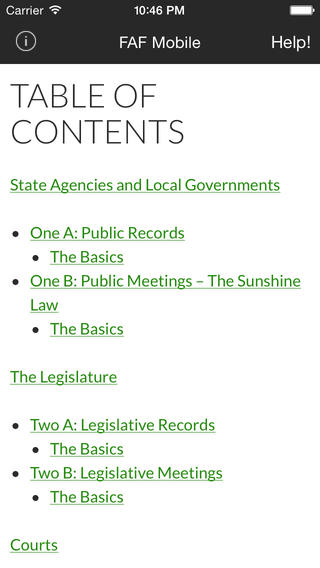 First Amendment Foundation background check public records