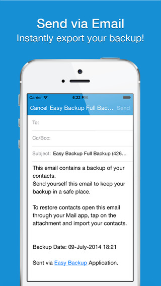 Easy Backup Pro - My Contacts Backup Assistant for iCloud, Google, Gmail & Yahoo Contacts