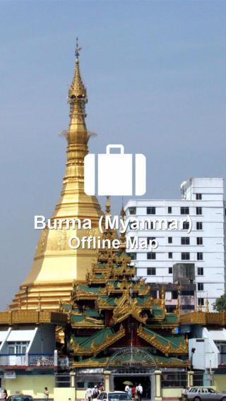 Offline Map Burma (Myanmar) (Golden Forge) myanmar map