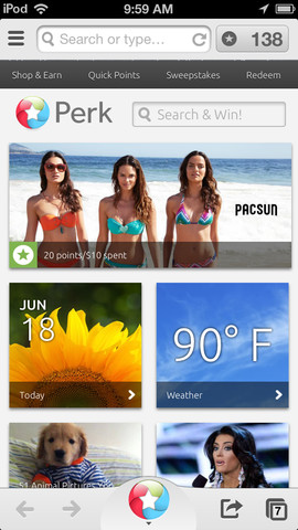 Perk Web Browser - Get rewards when you surf, shop and discover the web at tracker web