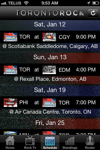 Toronto Rock Official App