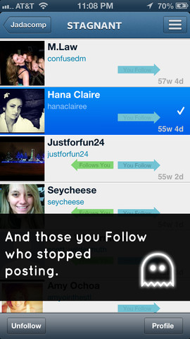 InstaGhost - Ghost Follower Analytics for Instagram Lite