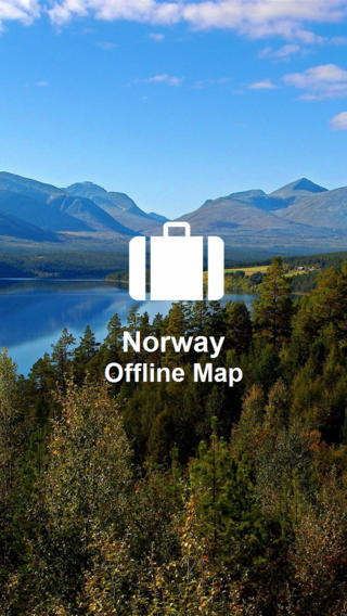 Offline Map Norway (Golden Forge) norway map
