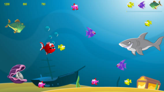 My hungry fish 1 0 app for ipad iphone games app by for Hungry fish game