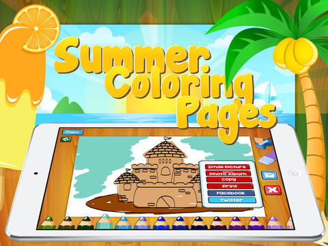 Kid`s Summer Coloring Book Full - Fun colouring & painting book art for children with multicolor crayons book cataloging app
