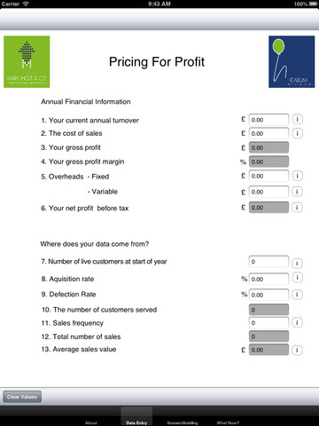 Pricing for Profit printing pricing