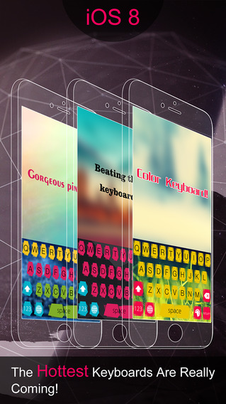 Color Keyboard HD for iOS 8 smartphones with keyboard
