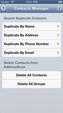 Delete Contacts – Duplicate and All 1.0