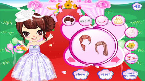 Wedding Peach Dress Up Games 105
