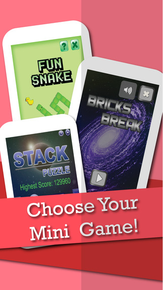 Mini Fun Games Bundle - Bricks Stack on Snake fun ipad mini games