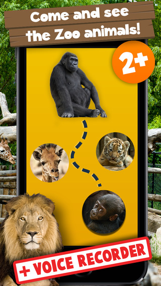Kids Puzzle Teach me Zoo: Learn about funny zoo animals like the lion, the tiger and the monkey zoo animals clipart