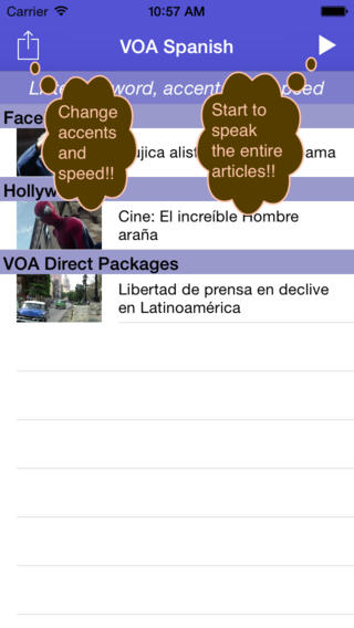 Listen to VOA Spanish in Spain and Mexico accents spanish accents