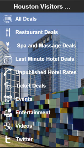 Houston Visitors Guide app andalucia houston tx