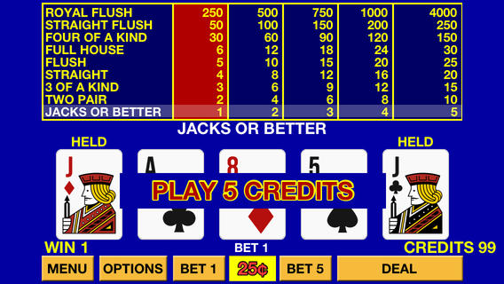 video poker slot machines free