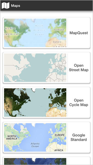 Offline Maps from Open Street Maps, Cycle Maps or the maps provided by Google and Bing offline maps download