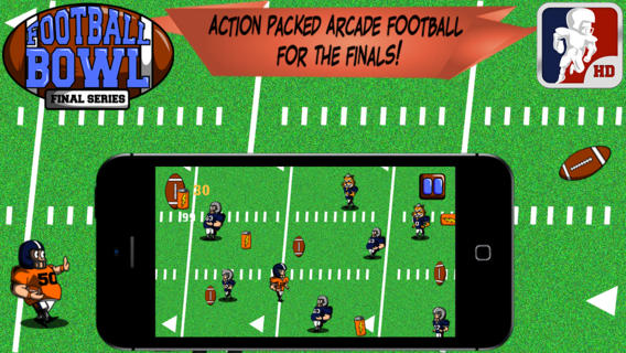 Football Bowl Final Series - American Super Quarterback Touchdown Match & Action Rush Drive