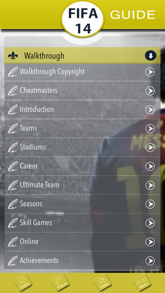 Guide for FIFA 14 - Cheats, Trophies, Teams & players fifa games free