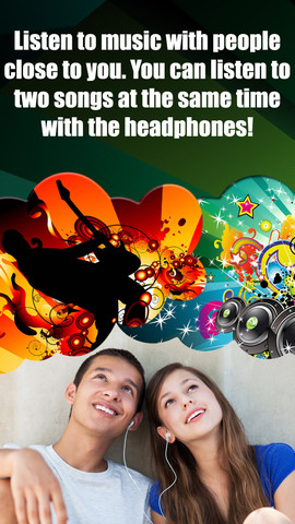 Double Music Player for Headphones Pro(Listen 2 songs simultaneously with headphones) headphones best buy