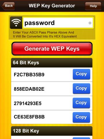 WEP Secure Pro HD - WEP Key Generator, WPA KeyGen & WiFi Random Password Generator handwriting generator
