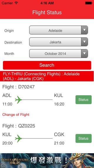 Flight Status - for AirAsia icelandair flight status