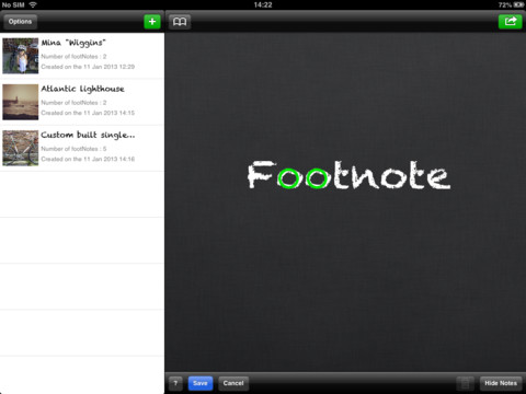 Footnote HD : Annotate and share your pictures 1.0