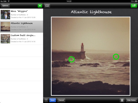Footnote HD : Annotate and share your pictures