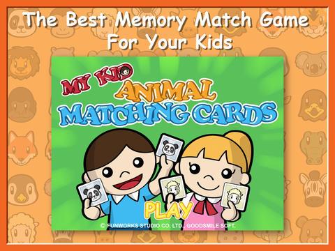 My Kid Animal Matching Cards