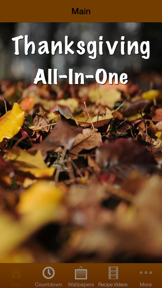 Thanksgiving All-In-One (Countdown, Wallpapers, Recipes) thanksgiving recipes pdf