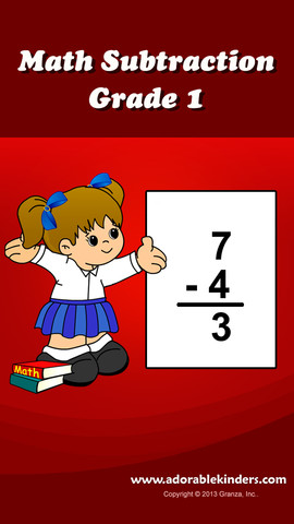 Math Subtraction For 1st Grade