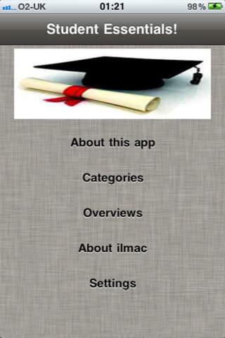Student Essentials! emergencies essentials