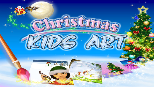 Christmas Kids Art - All In One Activity Games For Xmas art games for kids