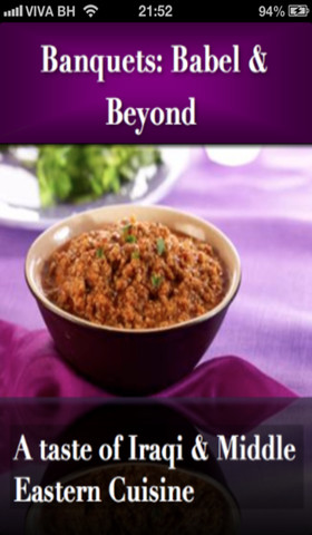 Banquets Babel & Beyond App middle eastern food recipes