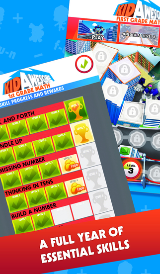 Kid Awesome 1st Grade Math – numbers, operations, addition, subtraction, geometry, algebraic thinking plus more learning!