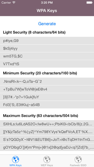 Wi-Fi Keys - WPA/WEP Keys for your router islands in fl keys