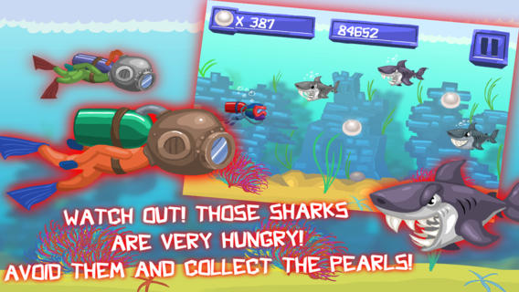 Hungry Shark: Ridiculous Fishing HD, Free Game diving equipment