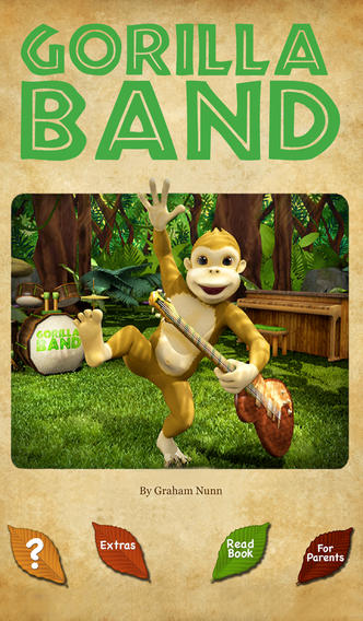 Gorilla Band 3D story book with music - Wasabi Productions