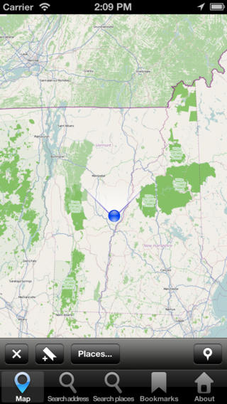 Offline Map Vermont, USA: City Navigator Maps vermont map