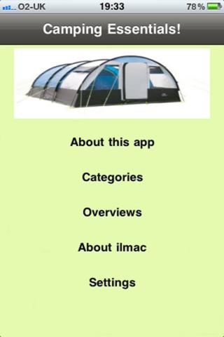 Camping Essentials! camping equipment