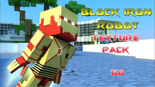 Block Iron Robot 3D World Texture Pack for Minecraft biologycorner