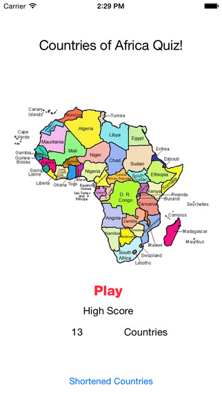 Countries of Africa Quiz africa map quiz