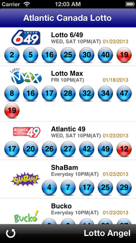 Atlantic Canada Lotto - Lotto Angel 13.1