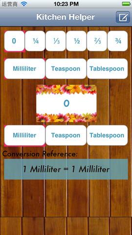 Helper Kitchen units of measure
