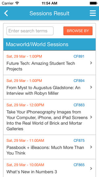 Macworld/iWorld Mobile Event App