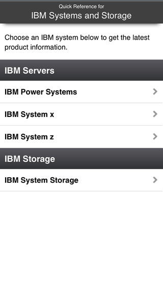IBM Systems and Storage Quick Reference Mobile Application home storage shelving systems