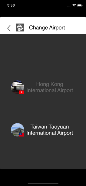 World Airports Flight Info taoyuan city