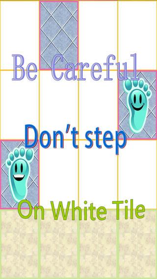 Don`t Step on White Tile, addicting tile stepping fun artwork on tile