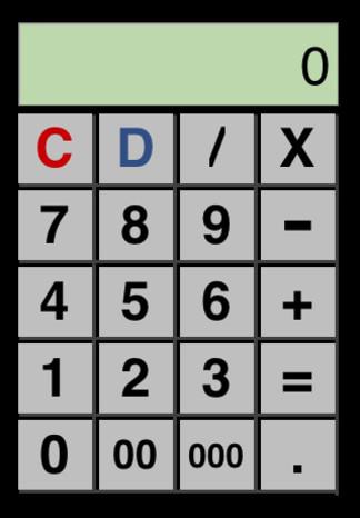 Light Calc Double Zero input devices pictures