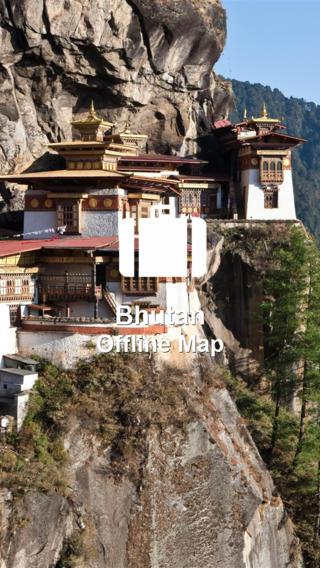 Offline Map Bhutan (Golden Forge) bhutan weather